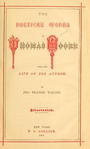 Cover of: The poetical works of Thomas Moore | Thomas Moore