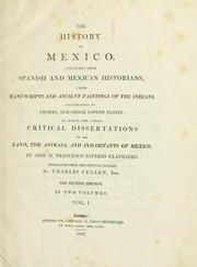 Cover of: The history of Mexico