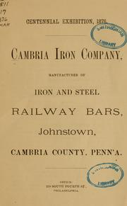 Cover of: Cambria Iron Company | Cambria Iron Company