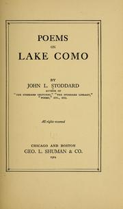 Cover of: Poems on Lake Como