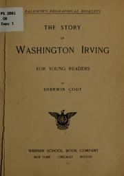 Cover of: The story of Washington Irving for young readers