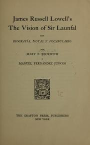 Cover of: The vision of Sir Launfal... | James Russell Lowell