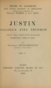 Dialogue with Trypho by Justin Martyr, Saint