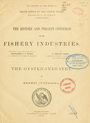 Cover of: The oyster industry