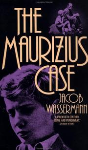 Cover of: The Maurizius Case