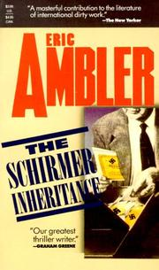 Cover of: The Schirmer inheritance