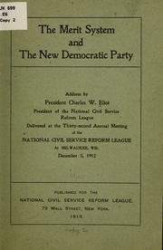 Cover of: The merit system and the new Democratic party