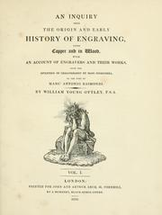 Cover of: An inquiry into the origin and early history of engraving
