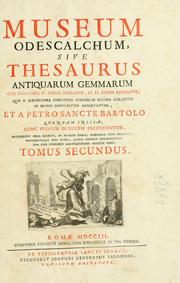 Cover of: Museum Odescalchum, sive, Thesaurus antiquarum gemmarum