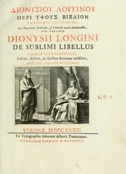 Dionysiou Logginou Peri ypsous biblion by Longinus