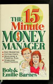 Cover of: The 15 minute money manager
