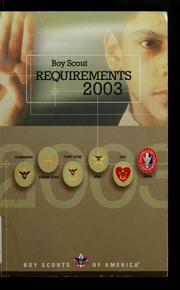 Cover of: 2003 Boy Scout requirements | Boy Scouts of America