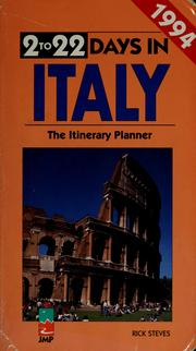 Cover of: 2 to 22 days in Italy | Rick Steves