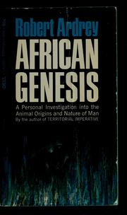 Cover of: African genesis