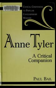 Cover of: Anne Tyler