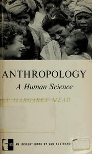 Cover of: Anthropology, a human science