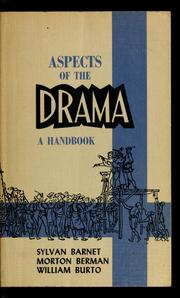 Cover of: Aspects of the drama | Sylvan Barnet