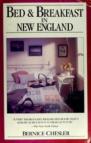 Cover of: Bed and breakfast in New England