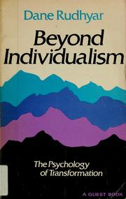 Cover of: Beyond individualism