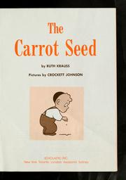 Cover of: The carrot seed | Ruth Krauss