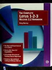 Cover of: The complete Lotus 1-2-3 release 2.2 handbook