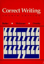 Cover of: Correct writing