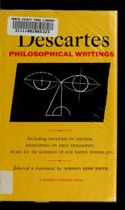 Cover of: Descartes' philosophical writings