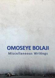 Cover of: Miscellaneous Writings
