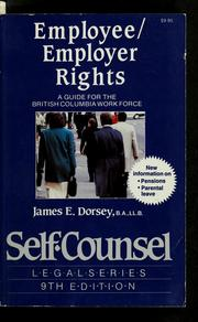 Cover of: Employee/employer rights | James E. Dorsey