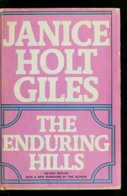 Cover of: The enduring hills