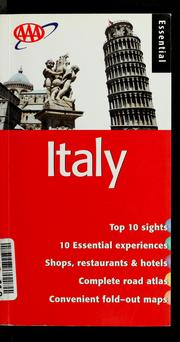 Cover of: Essential Italy | Jane Shaw