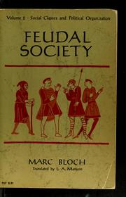 Cover of: Feudal society