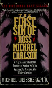 Cover of: The first sin of Ross Michael Carlson | Michael P. Weissberg