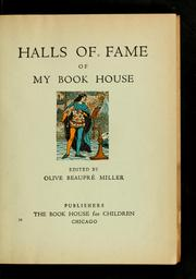 Cover of: Halls of fame of my book house