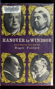 Cover of: Hanover to Windsor