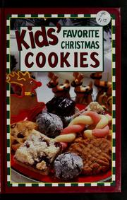 Cover of: Kids favorite Christmas cookies