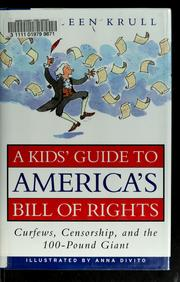 Cover of: A kids' guide to America's Bill of Rights