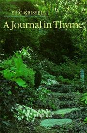 Cover of: A journal in thyme