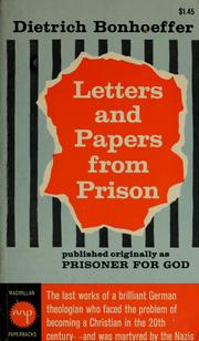 Cover of: Letters and papers from prison