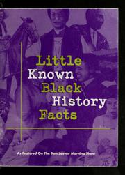 Cover of: Little known black history facts
