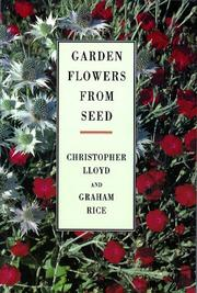 Cover of: Garden flowers from seed