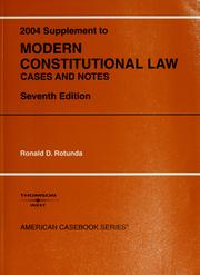 Cover of: Modern Constitutional Law 2004