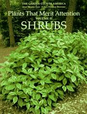 Cover of: Plants That Merit Attention by Janet Meakin Poor