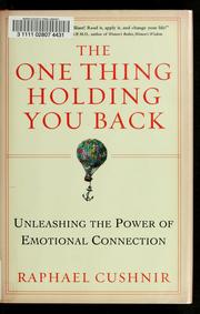 Cover of: The one thing holding you back | Raphael Cushnir
