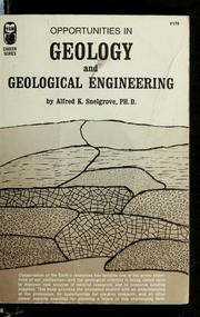 Cover of: Opportunities in geology and geological engineering