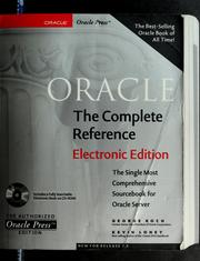 Cover of: Oracle