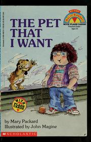 Cover of: The pet that I want
