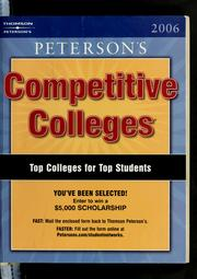 Cover of: Peterson's competitive colleges, 2006 | Peterson's