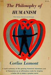 Cover of: The philosophy of humanism