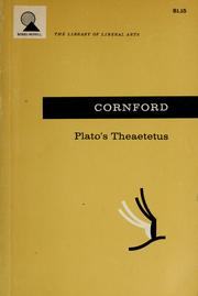 Cover of: Plato's Theaetetus